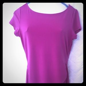 Rouched magenta top from New York and Company